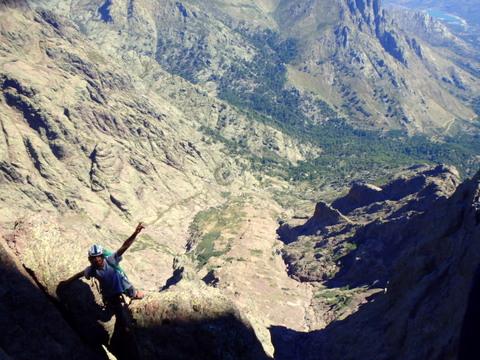 Escalade longue voie Corse