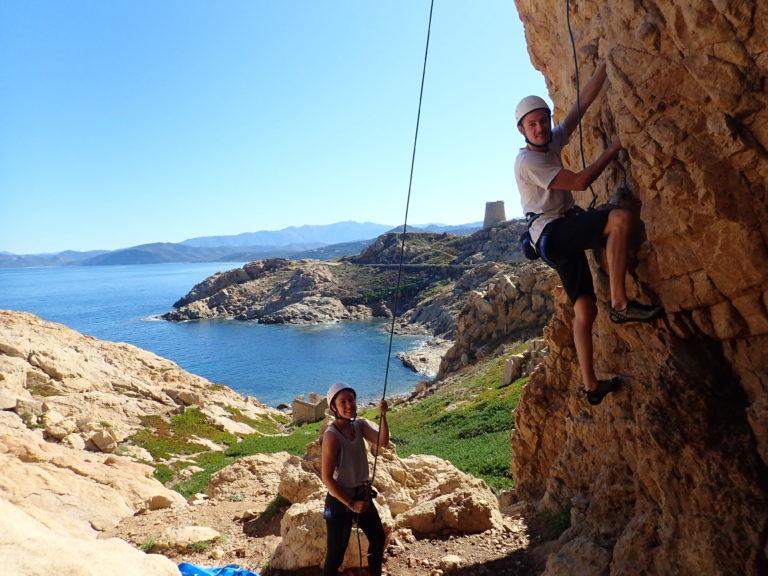 Climbing In Calvi Ile Rousse Balagne Montagne Aventure