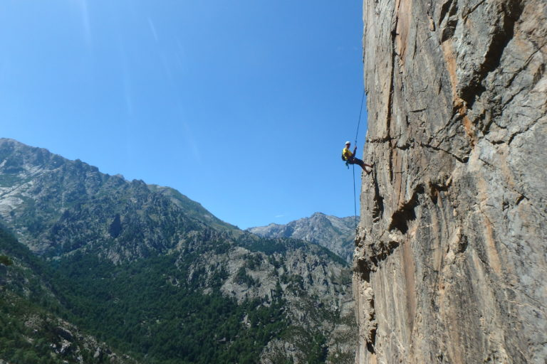 Rock climbing long routes